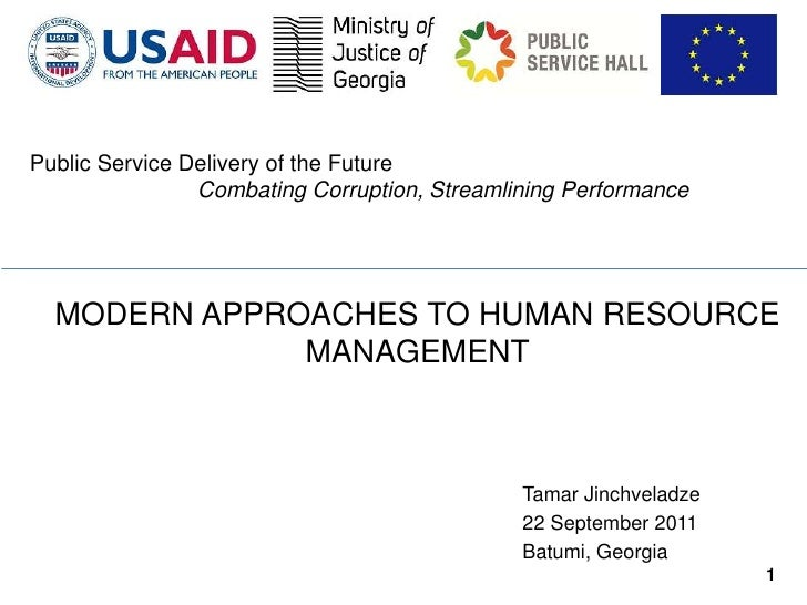 Public Service Delivery of the Future                Combating Corruption, Streamlining Performance  MODERN APPROACHES TO ...