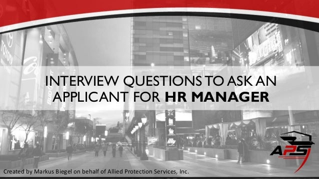 Hr Manager Interview Questions Sample