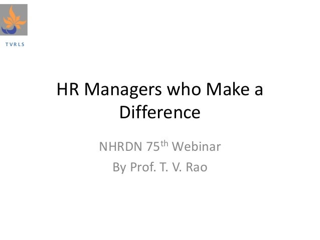 HR Managers Who make a Difference