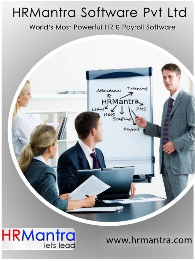 HRM<Jn'rrc:  Software Pvt Ltd  World's Most Powerful HR 8 Payroll Software  HRMGntrG www. hrmantra. com  lets lead