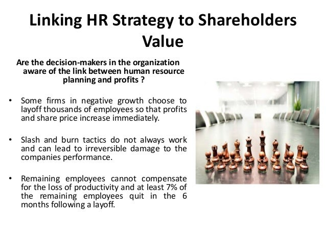 hr as a source of shareholder Several parties are supposed to be responsible for protecting and managing shareholders' interests, including the company's employees, its executives and its board of directors.