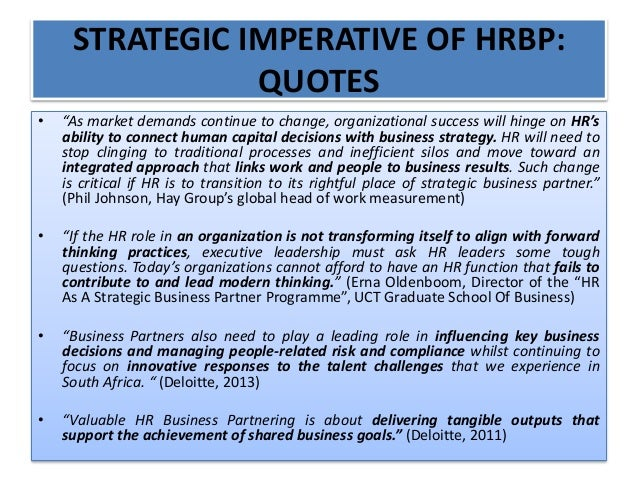 Hrm business partnering 12 june 2014