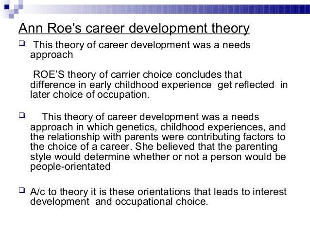 ann roe career theory pdf