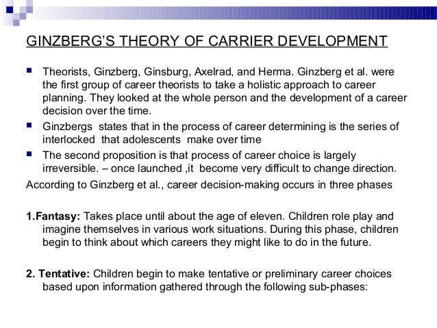 anne roe career development theory