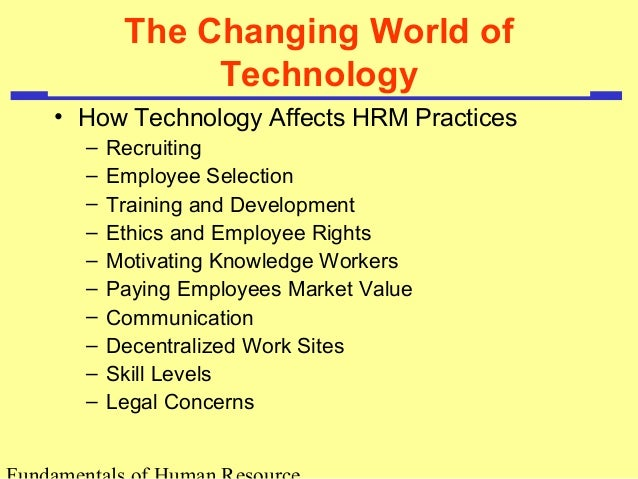 The Effects of Human Resource Management Practices on Productivity