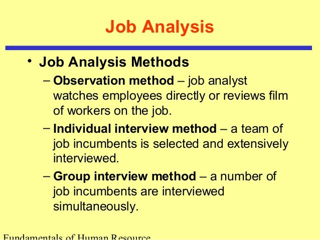 Human Resource Planning And Job Analysis