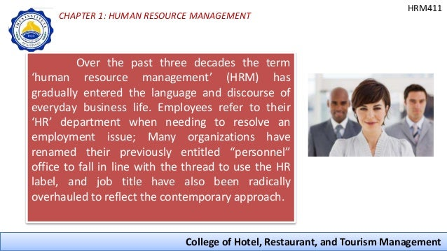 Introduction To Human Resource Management In Hospitality