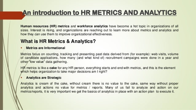The Power Of Hr Metrics & Analytics