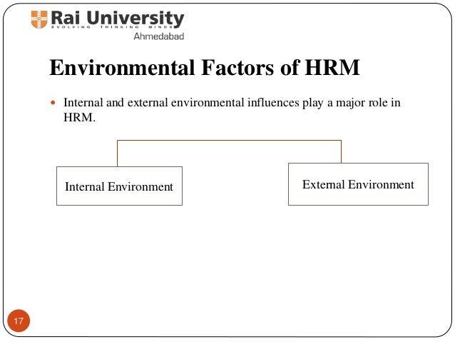 internal and external factors affecting human resource management ppt