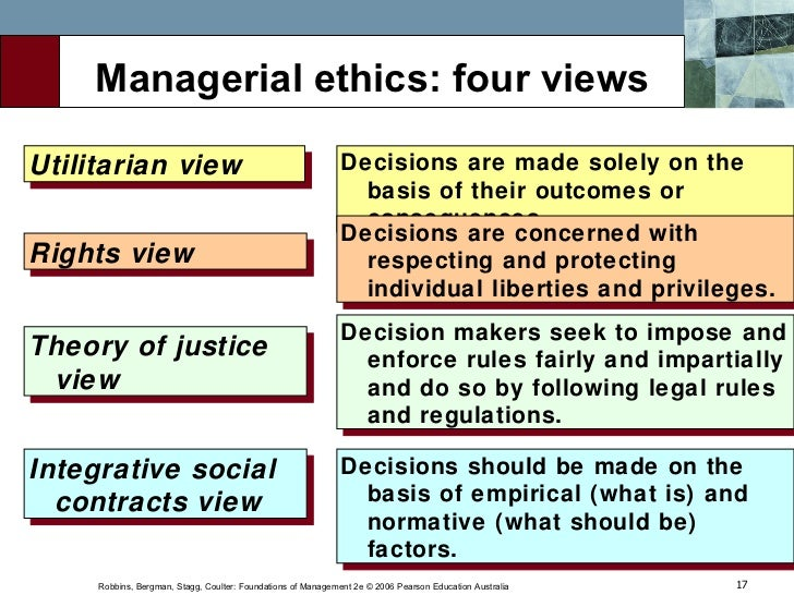 individualism view of ethics example