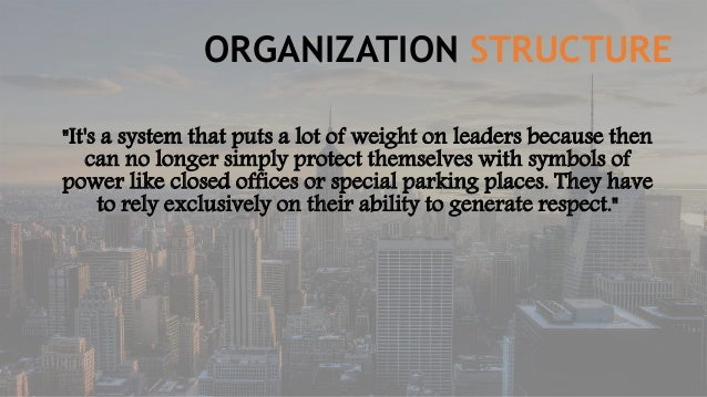criticism of semco organizational structure Hands of their employees, the company became very successful, as it was more   place (semler, 1993), describes how semco came to change the  business  structure itself  fective in their job as problems with quality control de- creased.