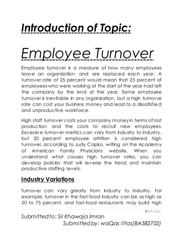 Employee Turnover On Hbl