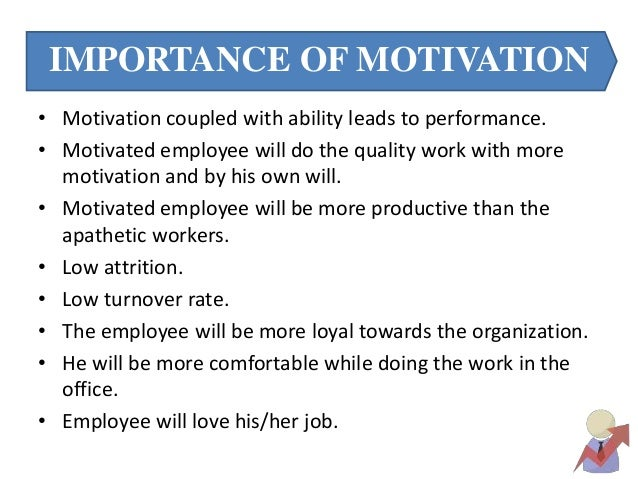 employee motivation report