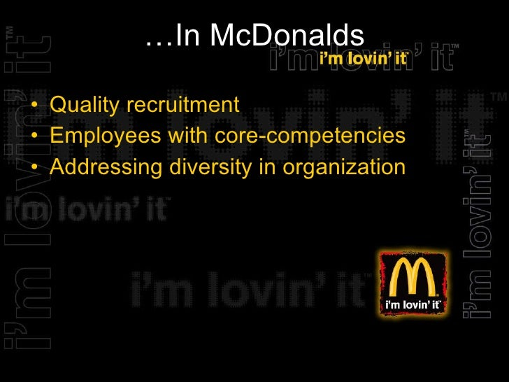 McDonald's Makes Diversity Part of the Business