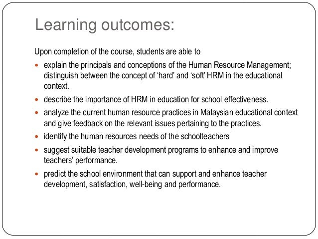Learning outcomes: Upon completion of the course, students are able to  explain the principals and conceptions of the Hum...