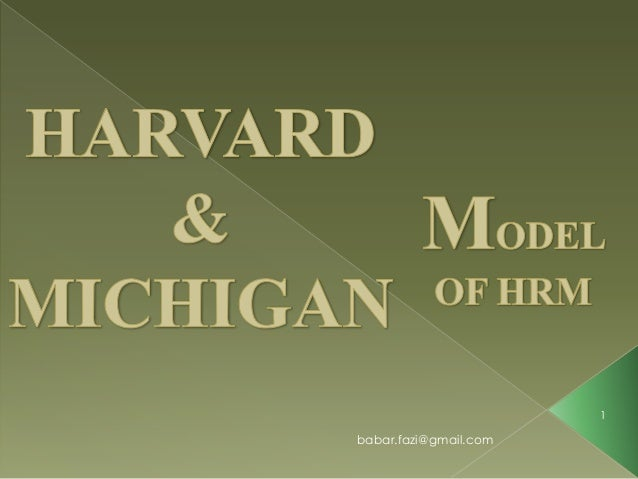 soft hrm and the michigan model