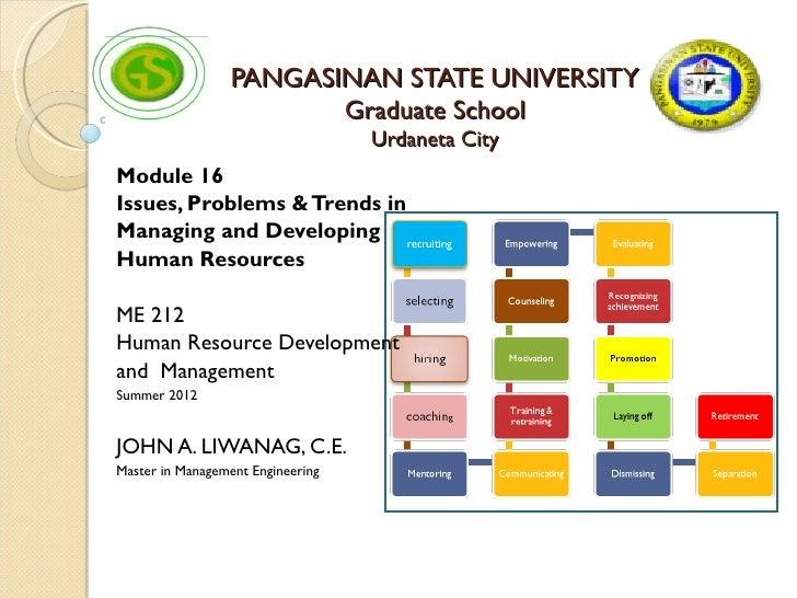 PANGASINAN STATE UNIVERSITY                         Graduate School                                   Urdaneta CityModule ...