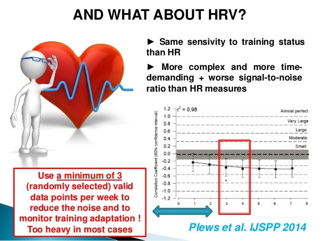 AND WHAT ABOUT HRV? ► More complex and more time- demanding + worse signal-to-noise ratio than HR measures ► Same sensivit...