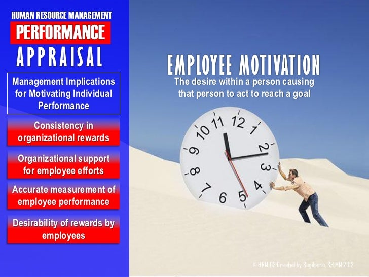 performance appraisal of hrm `employee working in an organization looks for growth in this session, we have provided a brief about various methods of performance appraisal.