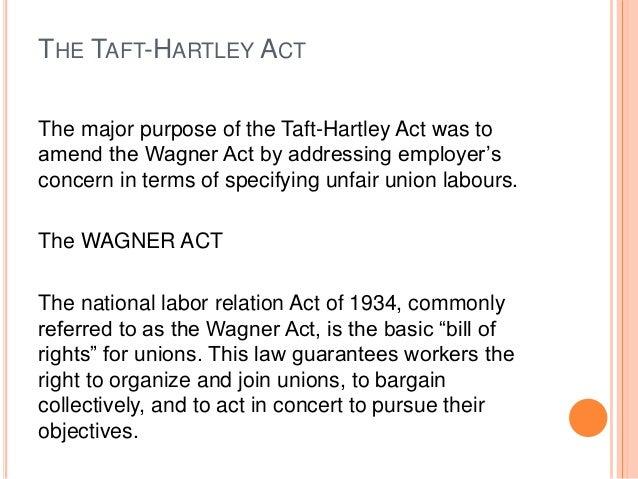 Taft Hartley Act Diagram