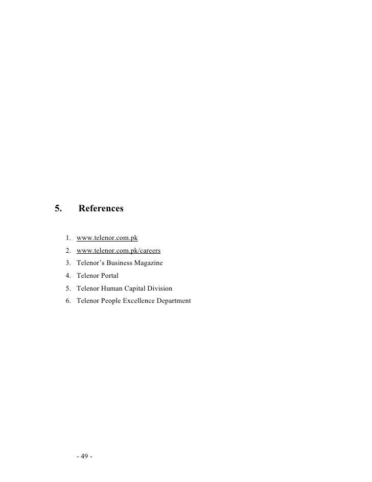 Telenor HRM Report Essay Sample