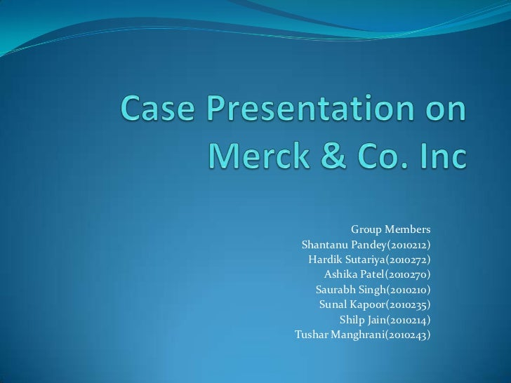 merck case 1 Blanket consent filed by petitioner, merck sharp & dohme corp on 09/12/2017: sep 19 2017: waiver of right of respondents esther parker & pamela paralikis to respond filed the solicitor general is invited to file a brief in this case expressing the views of the united states.