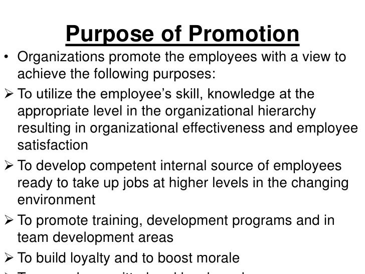 Promotion.