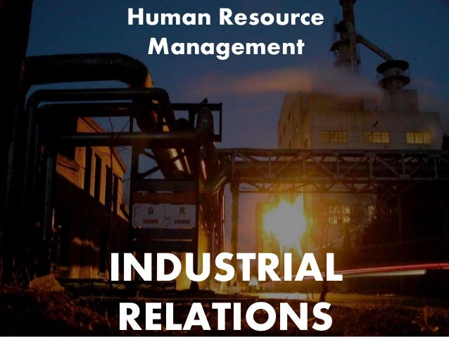 industrial relations in hrm pdf