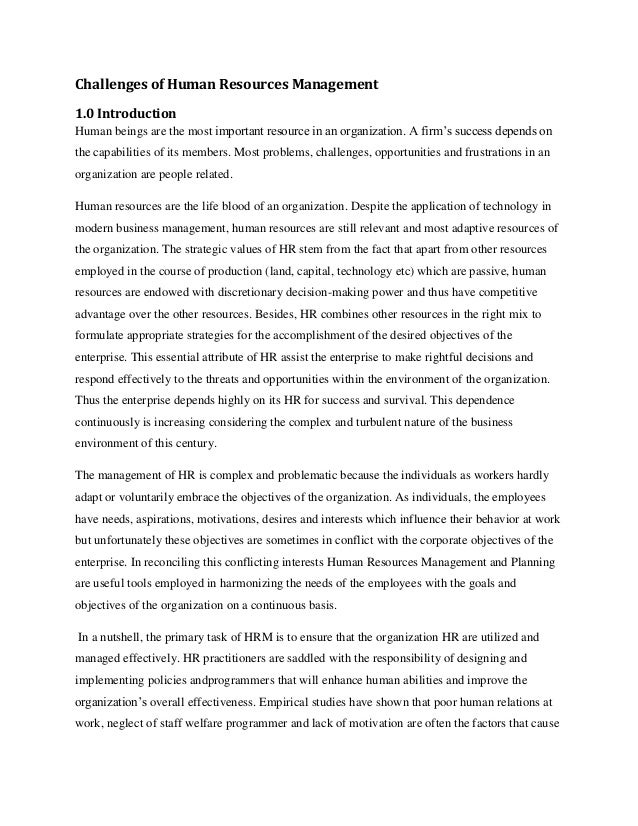 human resource research paper - this paper includes the critical evaluation of one of the three approaches to international human resource management with the help of proper academic research based on theoretical framework according to storey, hrm has a very different approach to employment which looks for competitive advantage by strategic deployment of highly committed.