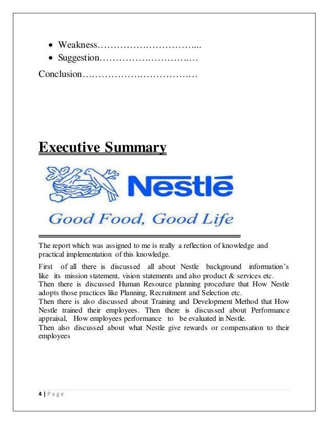 nestle career development program