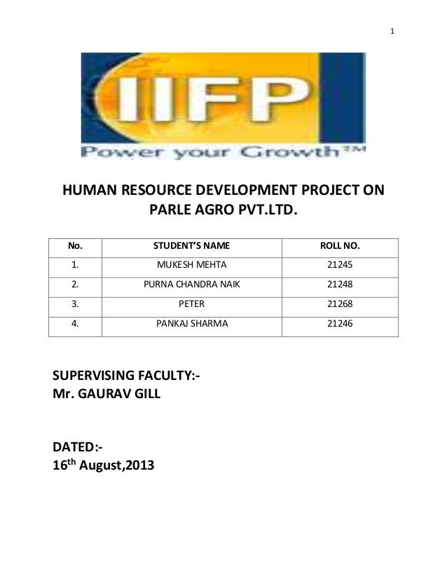 parle project Summer internship project report on the study of accounting and auditing at parle products private ltd in partial fulfillment of full time mba program (2013-1.