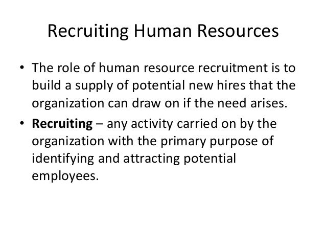 HRM 590 Week 5 Assignment Recruiting and Selection