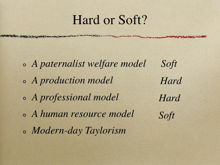 soft and hard hrm