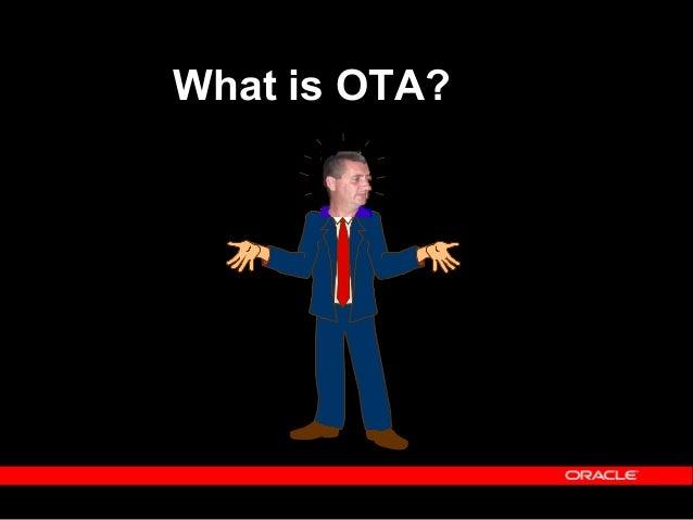 OTA - An Overview ACTIVITIESACTIVITIES RESOURCESRESOURCES SUPPLIERSSUPPLIERS ENROLMENTSENROLMENTS CUSTOMERSCUSTOMERS STUDE...