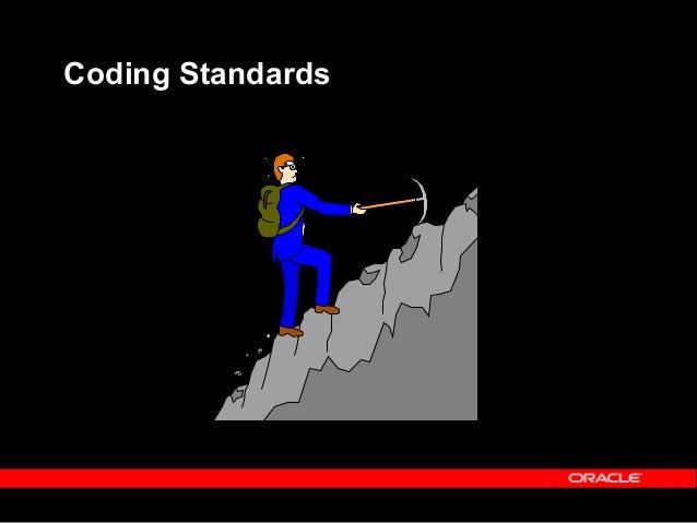 What Coding Standards?  Follow SQL*Plus, PL/SQL coding standards.  Application Naming standards  Development standards ...