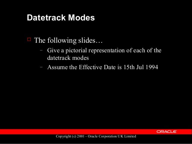 Copyright (c) 2001 - Oracle Corporation UK Limited Mode: Update Before: 02-Jan-1994 05-Feb-1994 Eff. Date Row A Row B Afte...