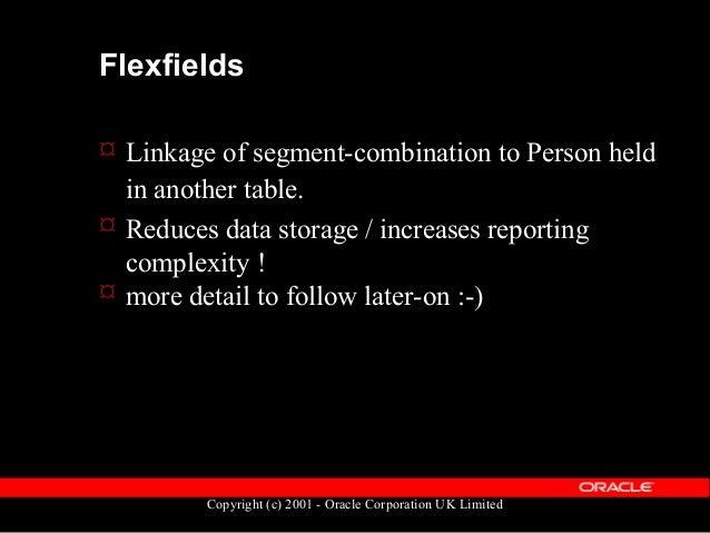 "Copyright (c) 2001 - Oracle Corporation UK Limited Flexfields - Example GRADE: Segment1 ""Stream"" ""M""=Management ""T""=Techni..."