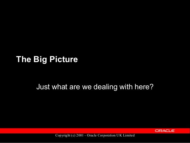 Copyright (c) 2001 - Oracle Corporation UK Limited The Big Picture  Human Resources  Payroll  Oracle Training Administr...