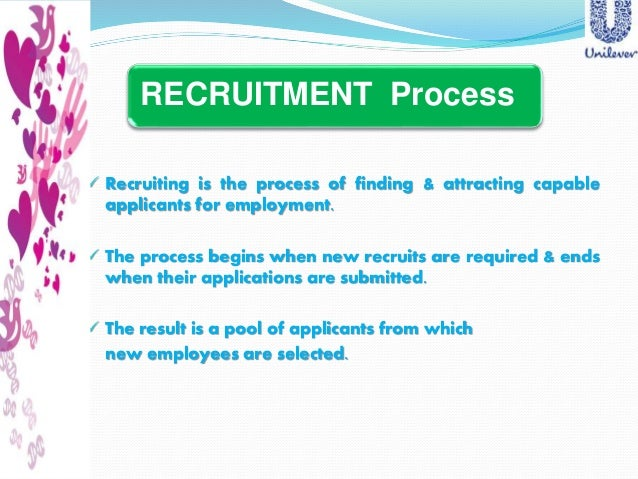 """recruitment selection of unilever """"a study of recruitment and selection process"""" in """"bharti airtel limited"""" summer training project report submitted towards partial fulfillment of bachelor of business administration (affiliated to ch."""