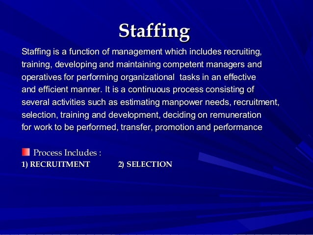 hrm and staffing function A job function is considered essential when the performance of the function is the purpose for the position typically, an essential function occupies a significant amount of time of the employee's time and requires specialized skills to perform by accurately describing the essential functions of the job, job seekers will have a clear.