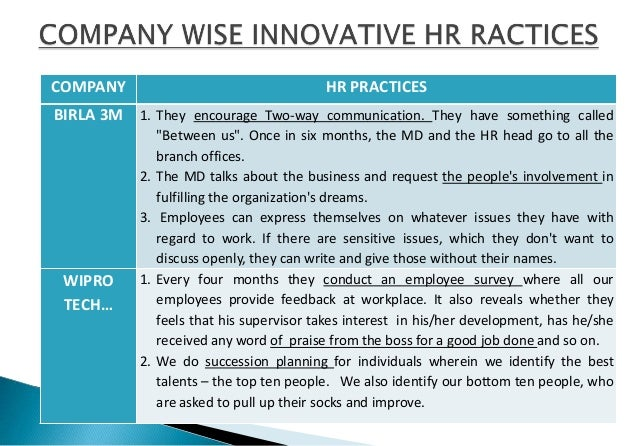 innovative hr practices The hr innovasian® report 2014 uncovers the state of, and practices in innovation from a hr in innovation is there innovation in hr innovation management.