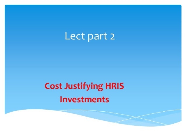 Hr Needs Analysis And Cost Estimation
