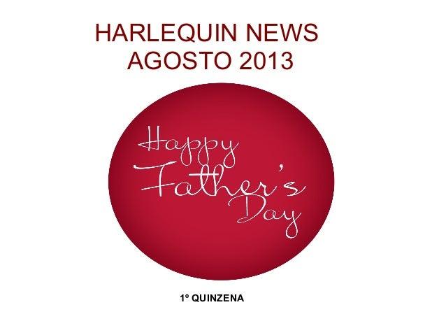 HARLEQUIN NEWS AGOSTO 2013 1º QUINZENA