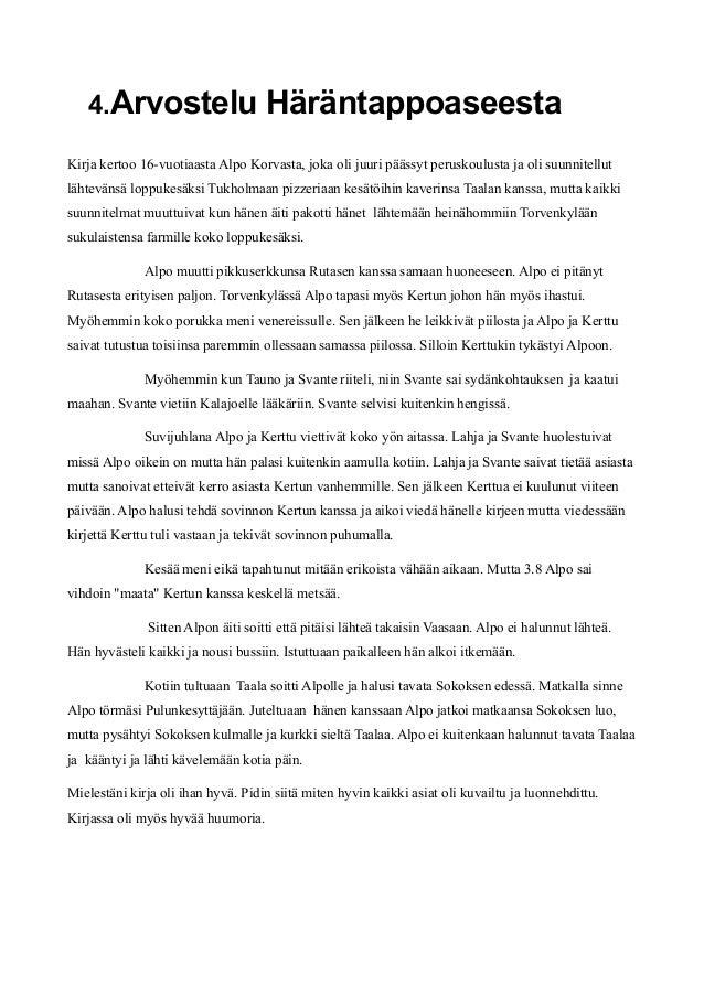 Kirja-Arvostelu Malli