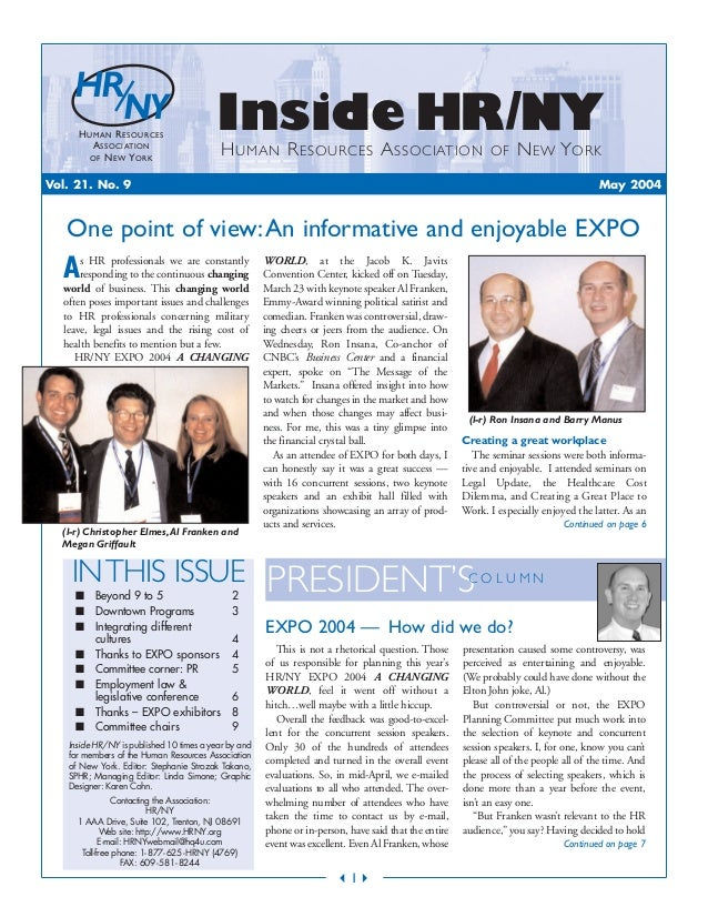 INTHIS ISSUE ■ Beyond 9 to 5 2 ■ Downtown Programs 3 ■ Integrating different cultures 4 ■ Thanks to EXPO sponsors 4 ■ Comm...