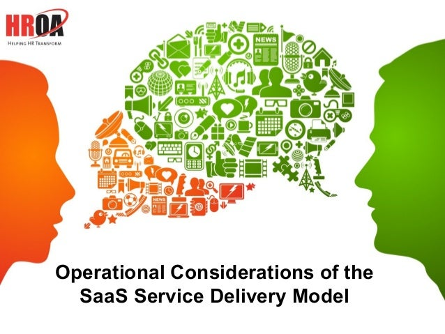 Operational Considerations of the  SaaS Service Delivery Model