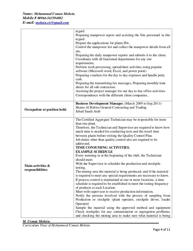hr or admin manager resume - Sample Resume For Hr And Admin Executive