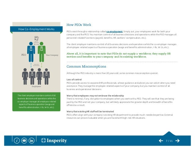 co employment relationship and peos