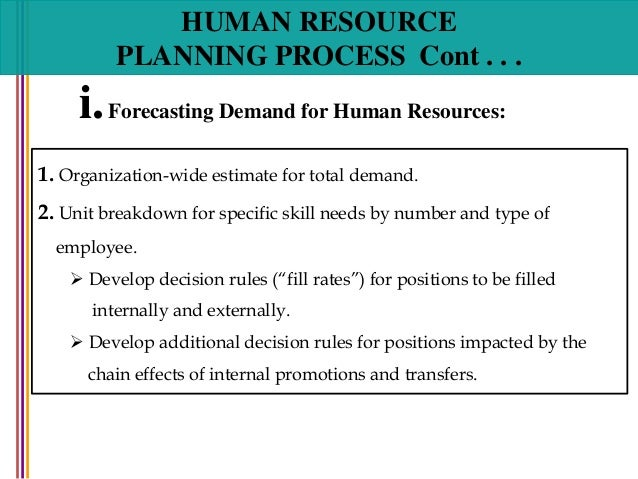 human resource planning forecasting Human resource planning - download as powerpoint presentation (ppt), pdf file (pdf), text file (txt) or view presentation slides online.