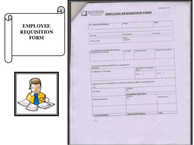 EMPLOYEE REQUISITION FORM; 24.
